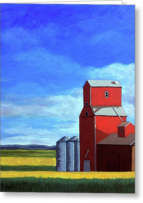 Standing Tall Greeting Card by Linda Apple