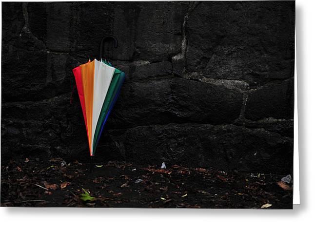 Standing Umbrella Greeting Card