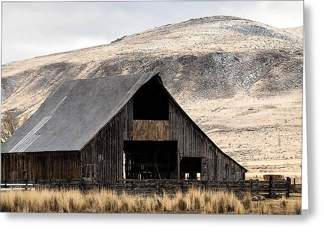 Standish Barn In Winter Greeting Card