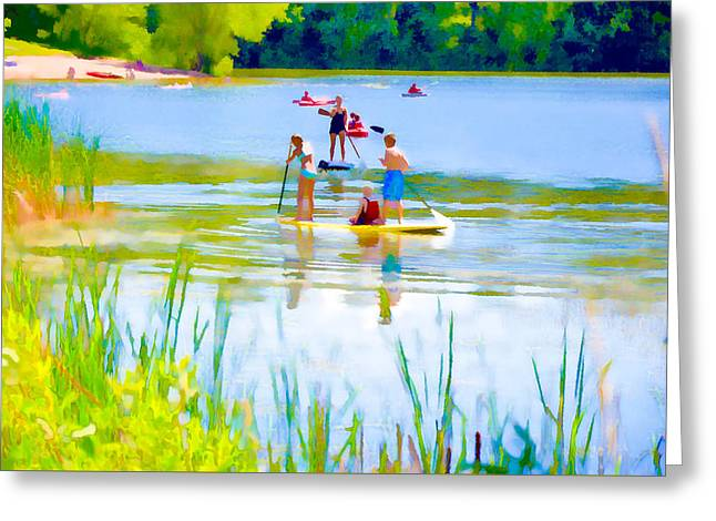 Standup Paddleboarding 3 Greeting Card by Lanjee Chee