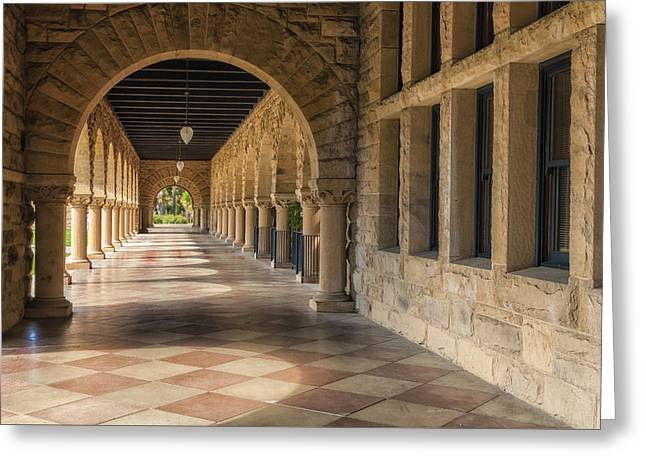 Stanford Hall Greeting Card by Jonathan Nguyen