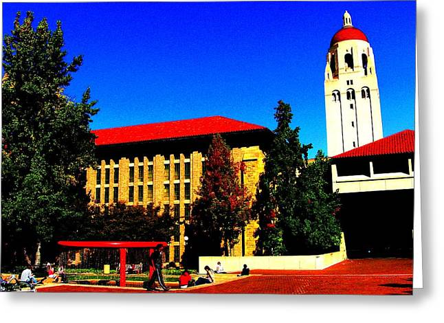 Stanford University - Stanford Ca Greeting Card by Fareeha Khawaja