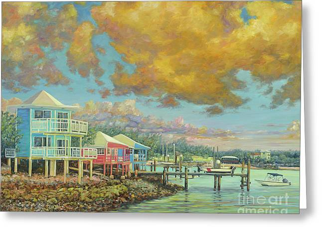 Staniel Cay Sunset Greeting Card by Danielle Perry