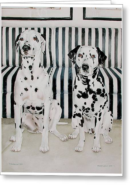Stanley And Stelle Greeting Card by Eileen Hale
