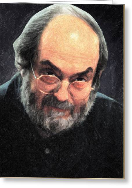 Stanley Kubrick Greeting Card by Taylan Apukovska
