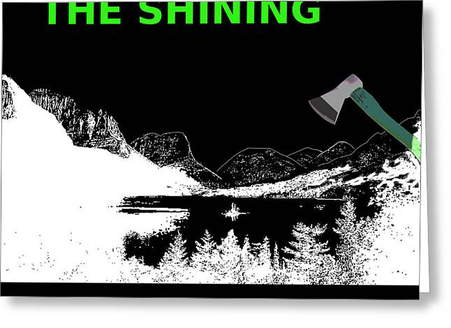 Stanley Kubricks The Shining Movie Poster Greeting Card by Enki Art