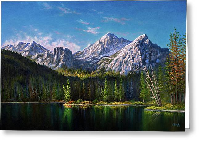Stanley Lake Reflections Greeting Card