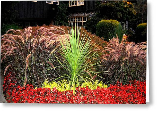 Stanley Park Gardens Greeting Card by Will Borden