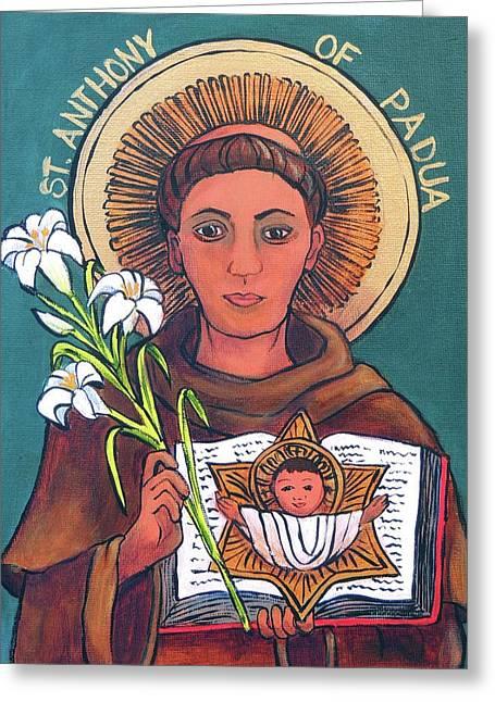 St .anthony Of Padua Greeting Card