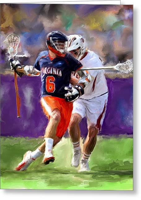 Scott Melby Greeting Cards - Stanwick Lacrosse Greeting Card by Scott Melby