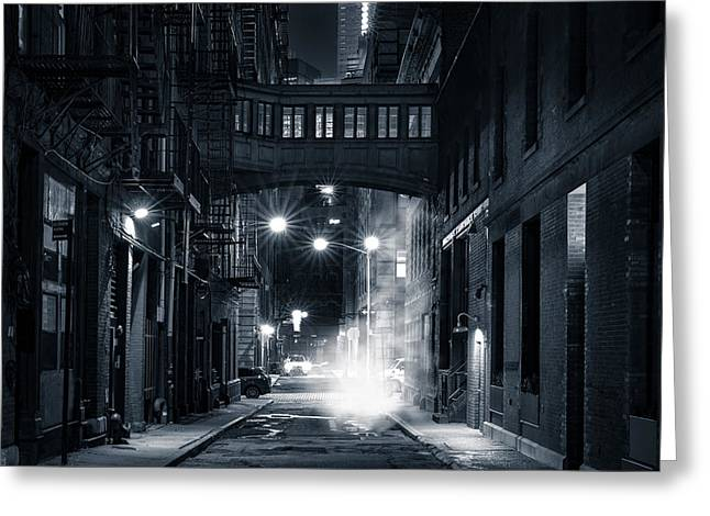 Staple Street Skybridge By Night Greeting Card