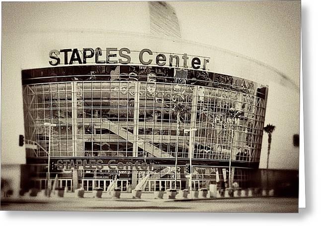 Staples Center Greeting Card by Ariane Moshayedi