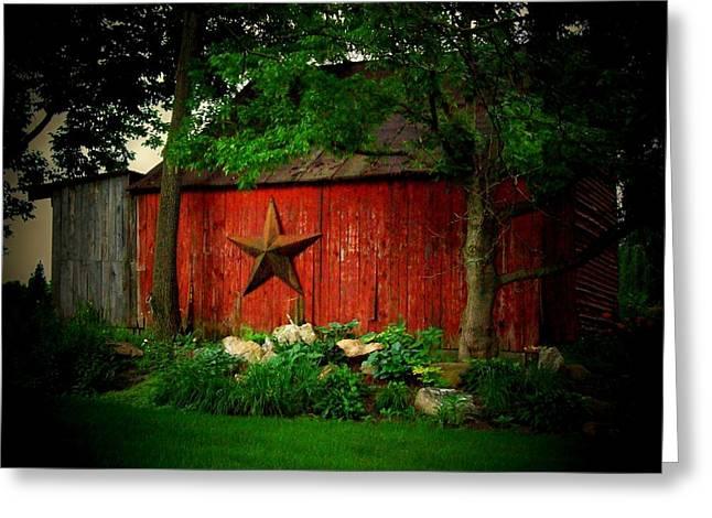 Star Barn Greeting Cards - Star Barn Greeting Card by Michael L Kimble