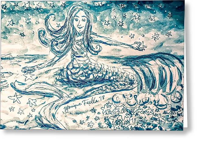 Star Bearer Mermaid Greeting Card