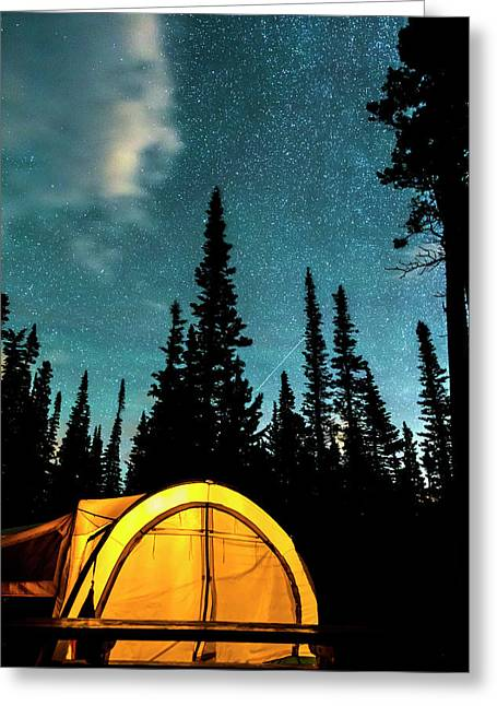 Greeting Card featuring the photograph Star Camping by James BO Insogna
