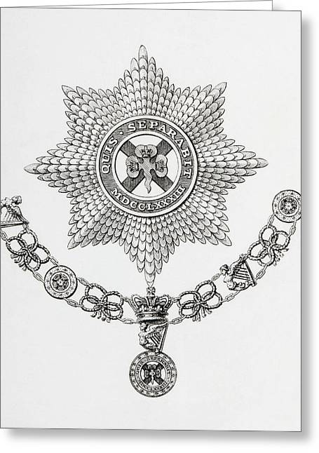 Star, Collar And Badge Of The Order Of Greeting Card by Vintage Design Pics