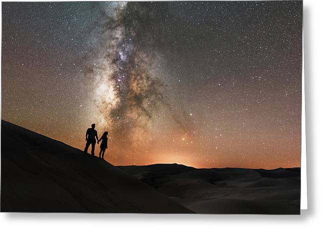 Star Crossed  Greeting Card by Michael Ver Sprill