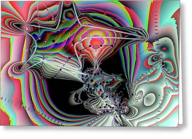 Greeting Card featuring the digital art Star Defomation by Ron Bissett