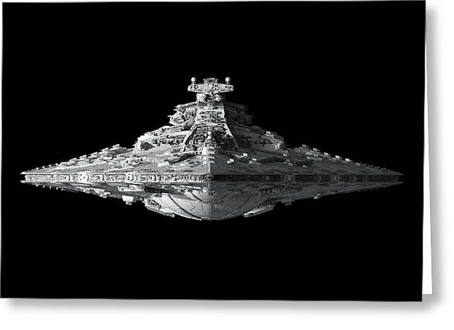 Star Destroyer Greeting Card by Ian King