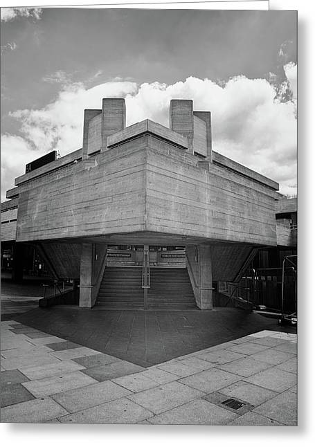 Star Destroyer - Side Entrance To National Theatre Greeting Card by Monika Tymanowska