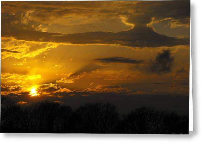 Star Destroyer Sunset 1 Greeting Card by Ginger Repke