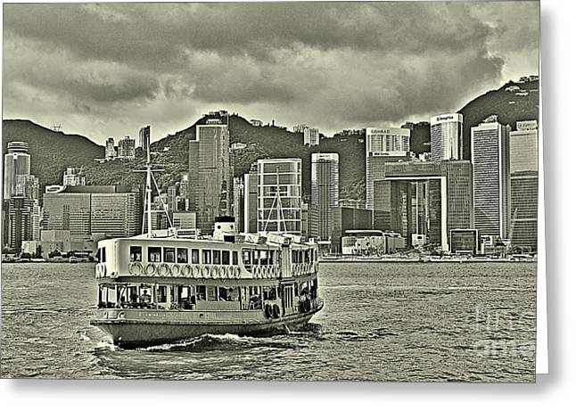 Star Ferry In Hong Kong Greeting Card by Joe  Ng