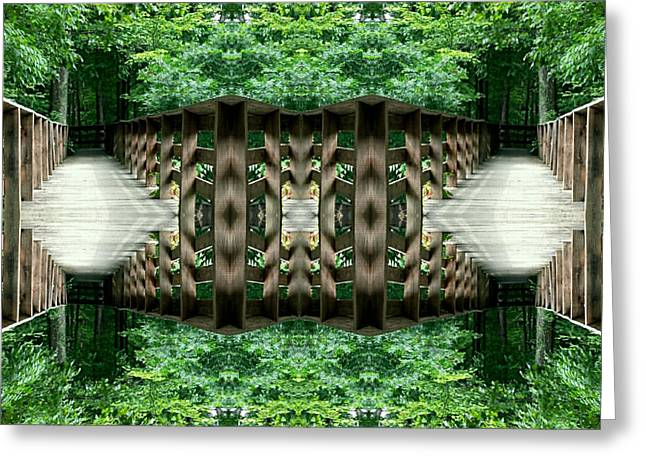 Star Gate Deep Forest  Greeting Card