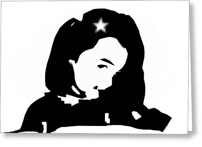 Star Girl Greeting Card by Christopher Rowlands