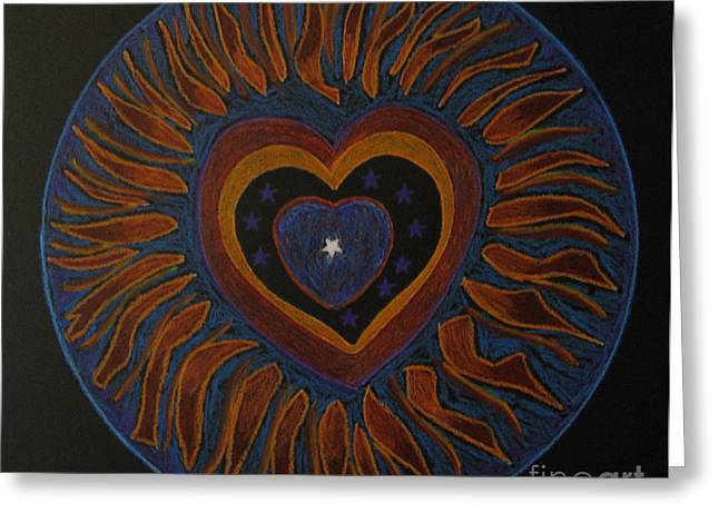Greeting Card featuring the drawing Star In My Heart by Patricia Januszkiewicz