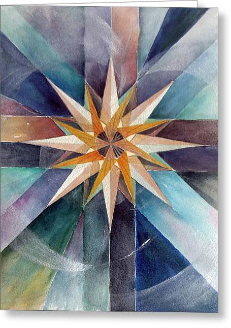 Star Mandala 2  Greeting Card