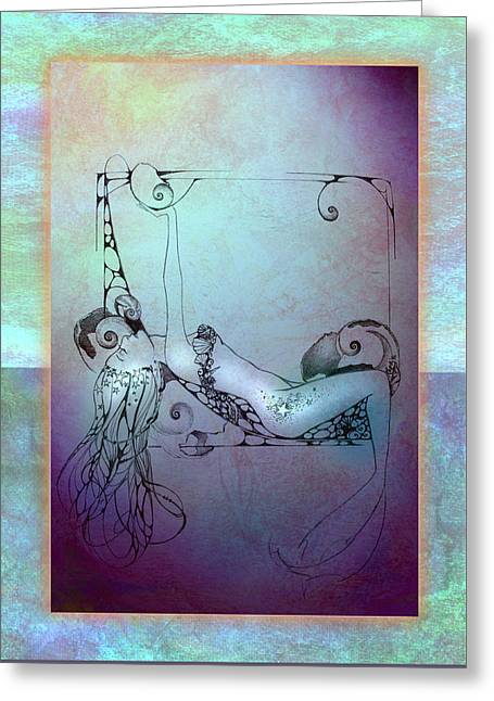 Greeting Card featuring the painting Star Mermaid by Ragen Mendenhall