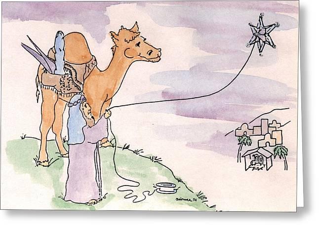 Star Of Bethlehem Greeting Card by Cathy Weaver