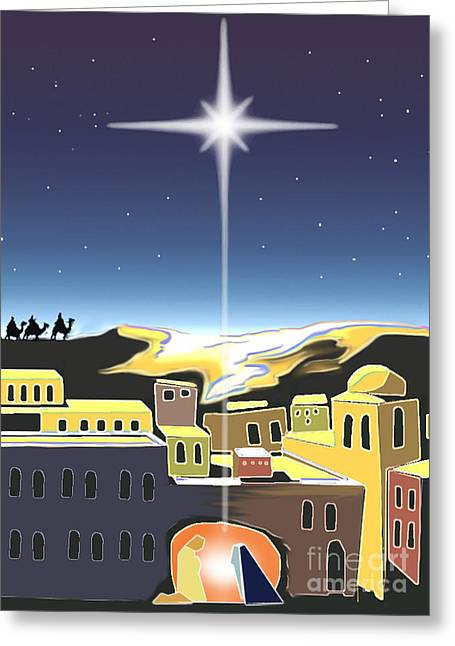 Star Of Bethlehem Greeting Card by Larry Cole