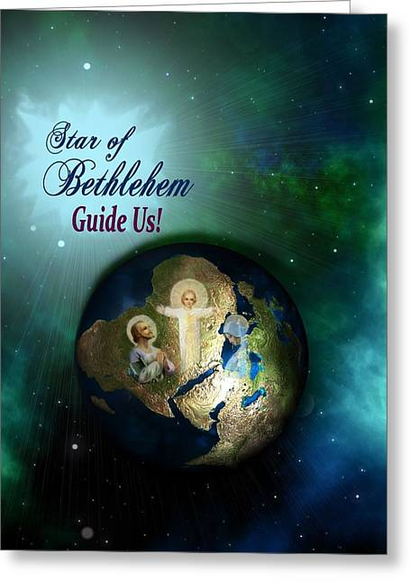 Star Of Bethlehem Greeting Card by Myrna Migala