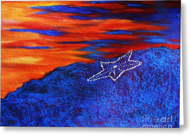 Star On The Mountain Greeting Card