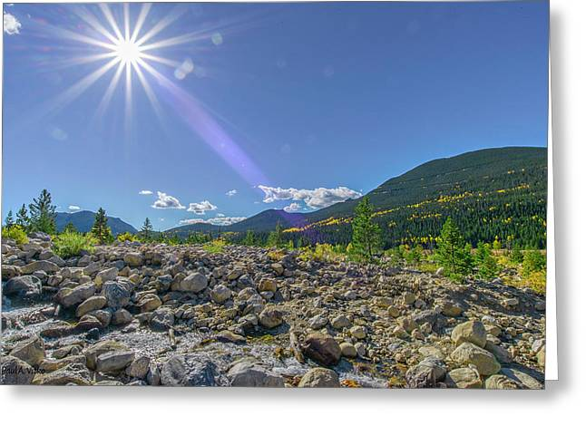 Star Over Creek Bed Rocky Mountain National Park Colorado Greeting Card