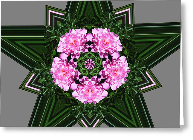 Star Peony Greeting Card