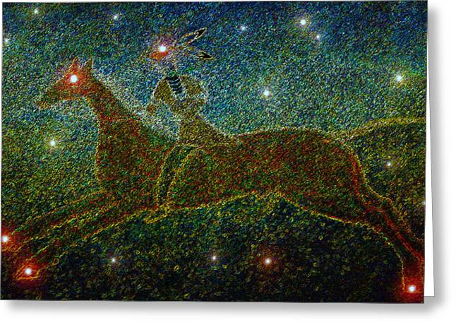 Constellations Digital Art Greeting Cards - Star Rider Greeting Card by David Lee Thompson