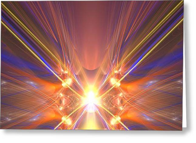 Star Shining Bright Greeting Card by Gregory  Pirillo