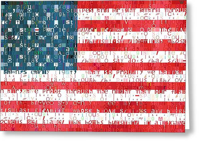 Star Spangled Banner American Flag Greeting Card by Dan Sproul