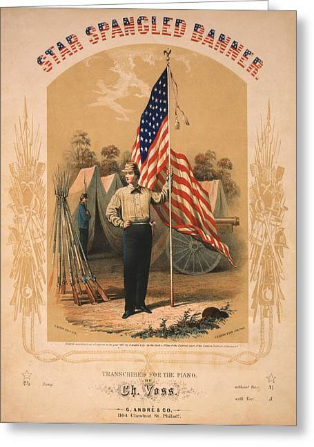 Star Spangled Banner Greeting Card by Bill Cannon