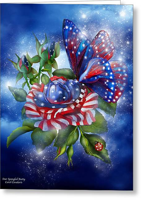 Star Spangled Butterfly Greeting Card