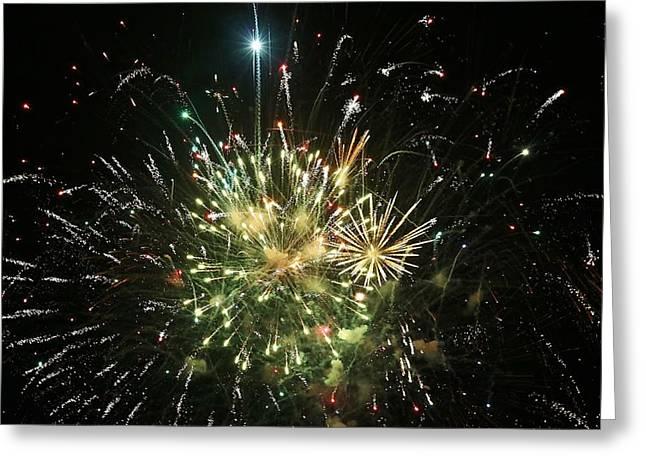 Star Spangling Fireworks Greeting Card