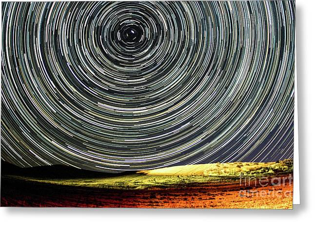 Star Trail Greeting Card