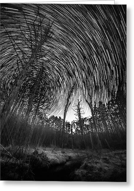Star Trails - Blue Ridge Parkway Greeting Card