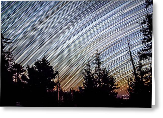 Star Trails From Mt. Graham Greeting Card