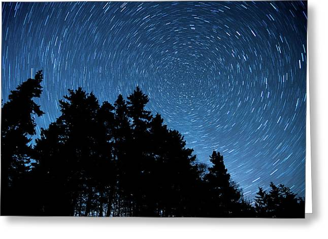 Star Trails In Acadia Greeting Card