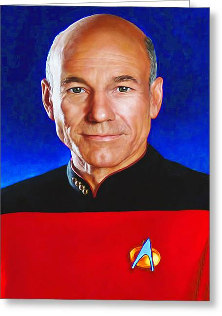Star Trek 4c By Nixo Greeting Card by Nicholas Nixo