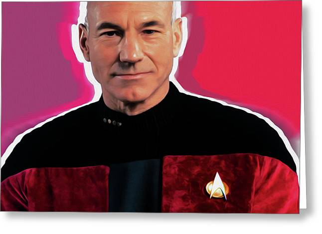 Star Trek Captain By Nixo Greeting Card by Nicholas Nixo
