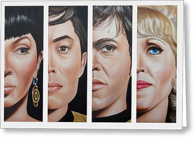 Star Trek Set Two Greeting Card by Vic Ritchey